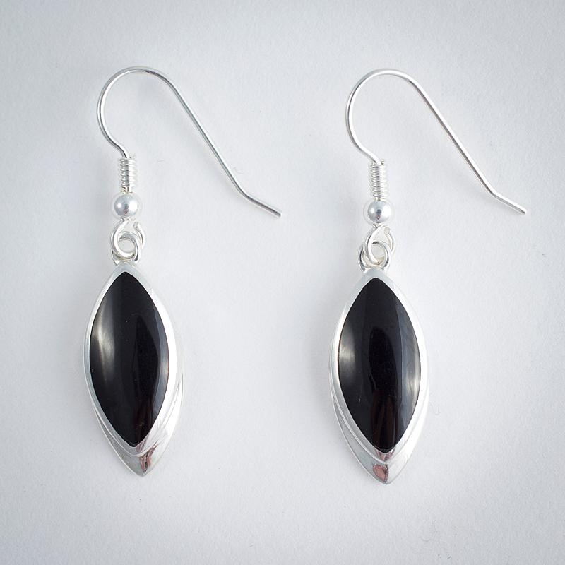 Whitby Jet Sterling Silver Earrings